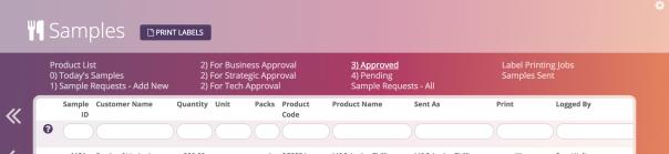 'Print labels' button