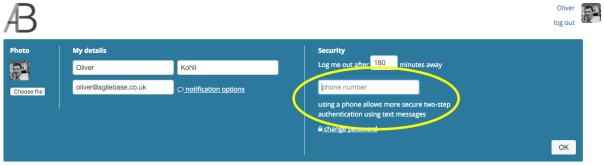 How to add a phone number